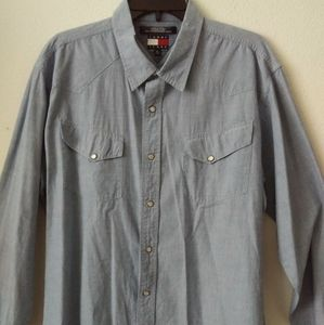 Tommy Jeans Men's Button Down Chambray  Shirt XL